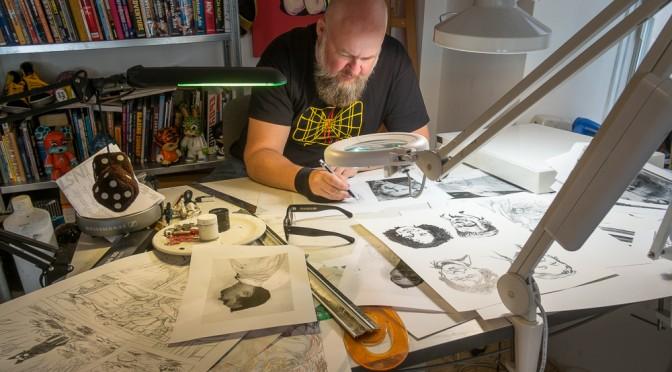 De studio van Erik Kriek