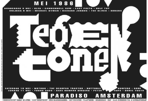 Tussen 1981 en 1988 ontwerpt Kisman posters voor Amsterdams premium-poppodium Paradiso. Naast de gangbare concertposters waren die voor het Tegentonen Festival hét podium voor zijn typografische experimenten
