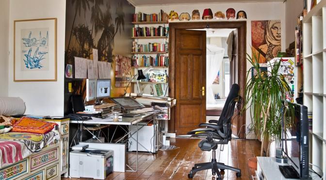 De studio van Zender