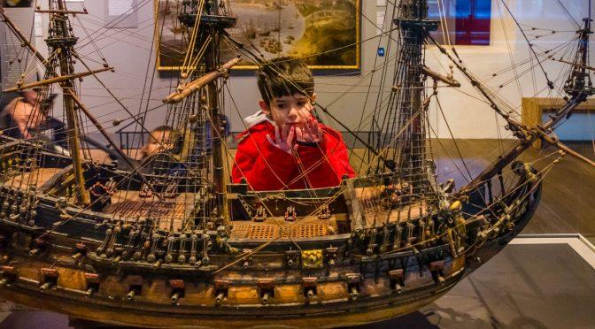 Met Lisa, Linda, Tiago en Liam naar Het Scheepvaartmuseum